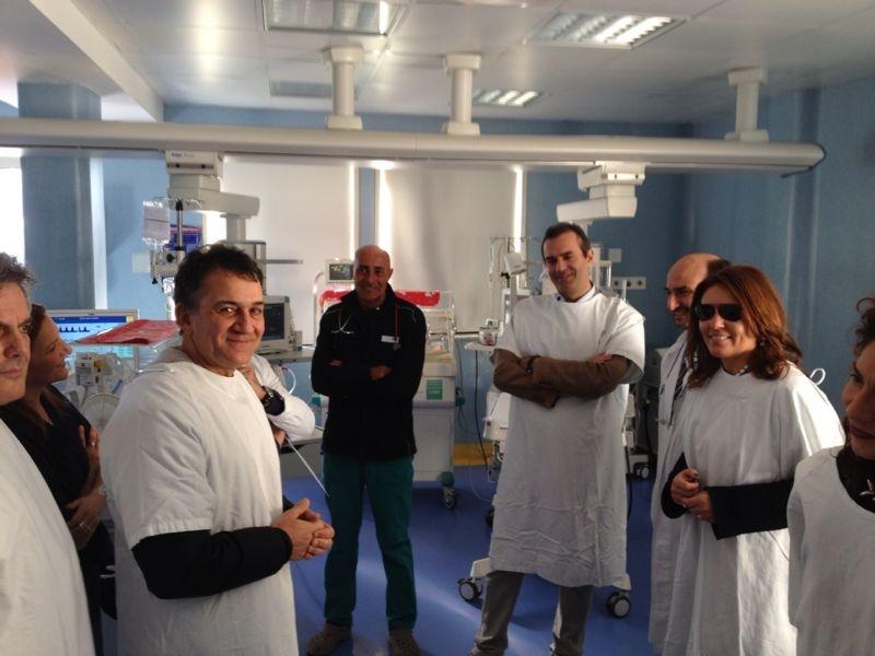 Il Sindaco De Magistris in visita all'Ospedale